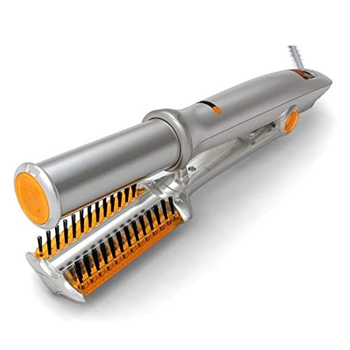 生む義務的原因2PCSヘアドライヤー熱風ブラシヘアドライヤースタイリングくしマイナスイオンサロンストレートヘアアイロンおよびカーラーブラシアンチスカルド