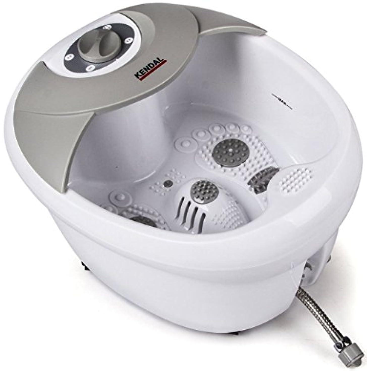 普遍的な美容師引き渡すKendal オールインワン フットスパ バス マッサージャー、加熱機能、高周波振動、赤外線、酸素バブル付 MS0809M (インポート)