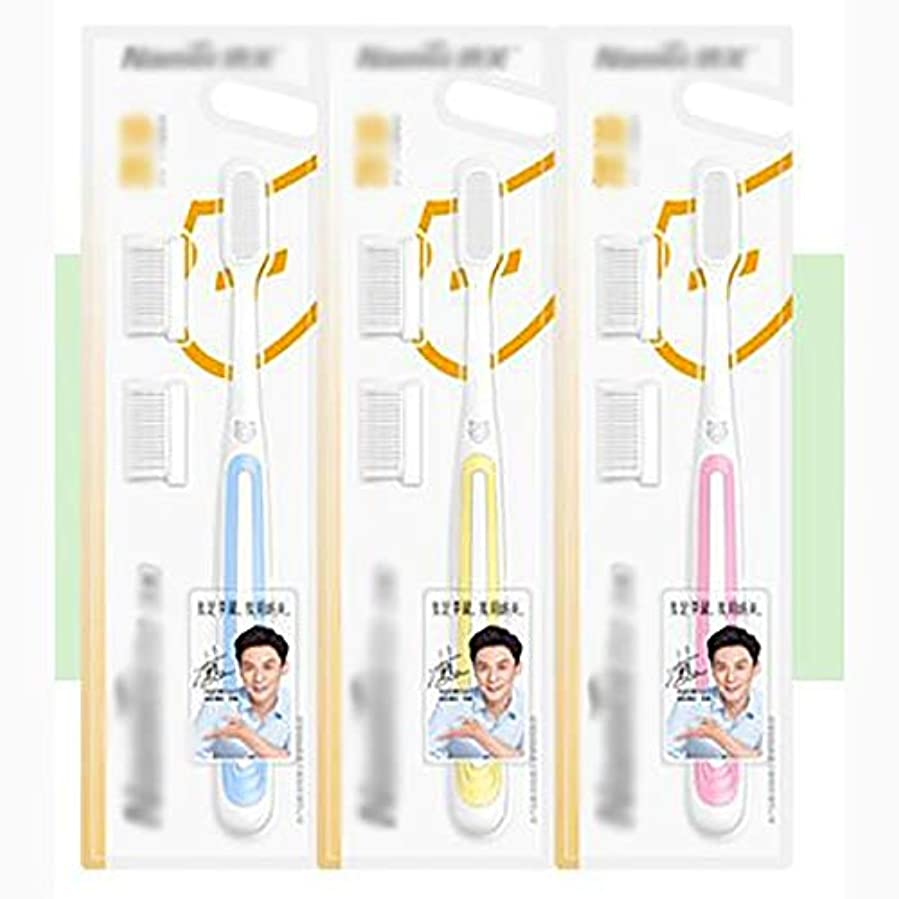 死にかけている故国刺繍ナノナノソフト髪大人歯ブラシ、クリーン歯ブラシ家族旅行9パック