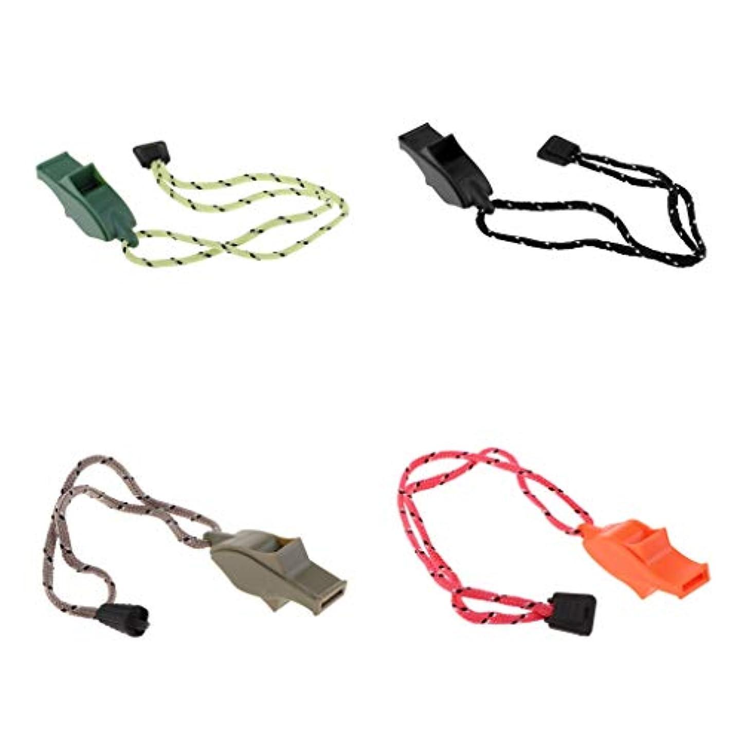 困難義務づける終わらせるSM SunniMix ハイキングキャンプ 安全ホイッスル プラスチック製 緊急ホイッスル ホイッスルボート用 4本入り