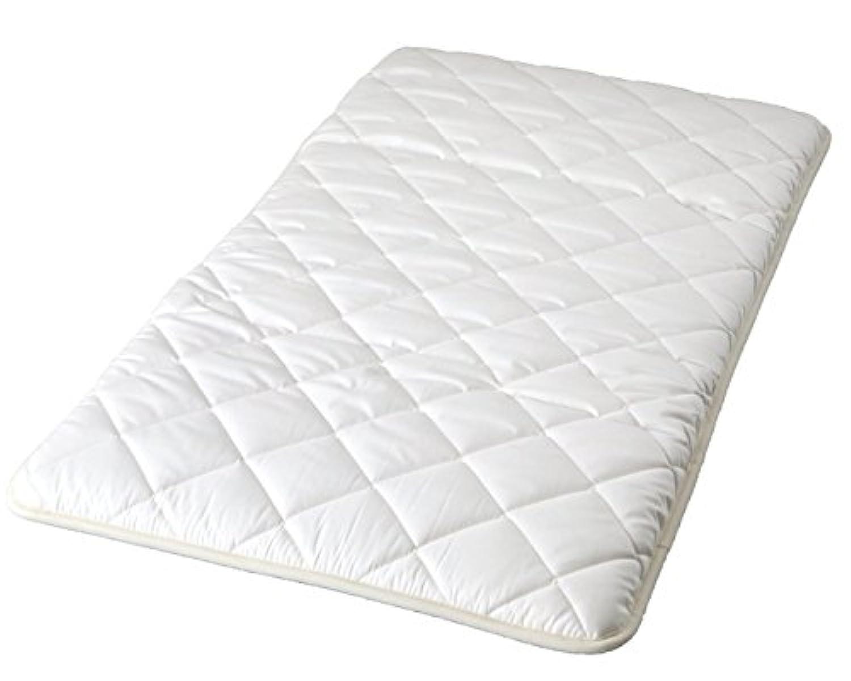 6歳までの寝具図鑑 こどものふとん ベビーマットレス しっかり敷きふとん 70x120cm ホワイト