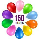 Prextex 12インチ パーティーバルーン 10個アソートレインボーカラー (バルーン150個) バルクパック 強力なラテックスバルーン パーティーデコレーション用 誕生日パーティー用品 アーチの装飾に ヘリウム品質