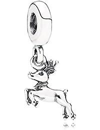PANDORA Charms Sterling Silver Original Reindeer Dangle Charm