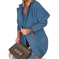 Womens Woolen Coats Warm Coat Jacket Lapel Winter Long Outerwear Top
