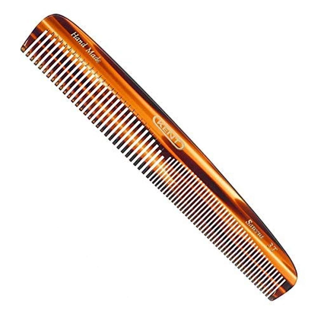 溝カウント食物Kent Handmade Saw Cut 148 Millimeter Coarse and Fine Tooth Dressing Comb, Hand Sawn Cellulose Acetate with Rounded...