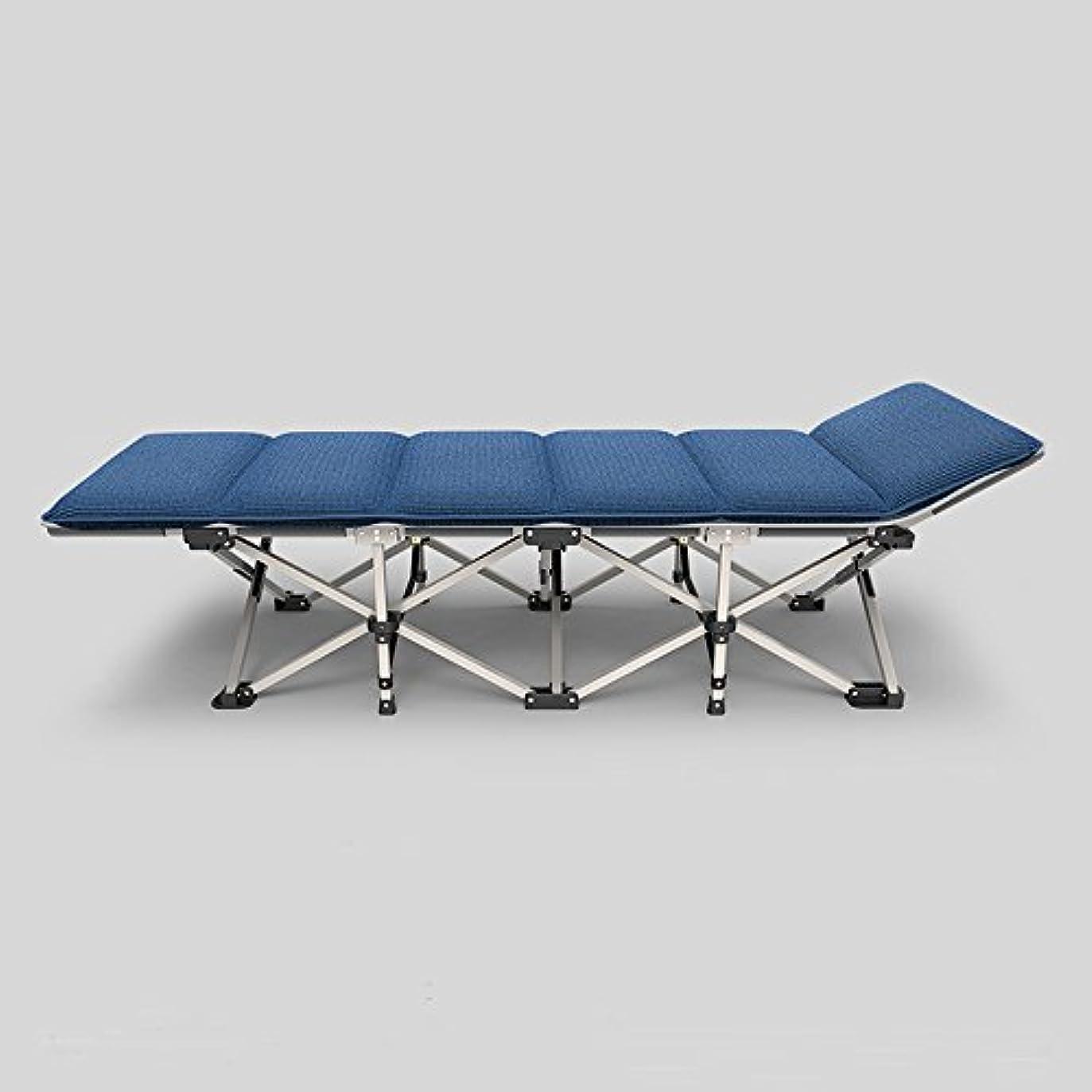 アプローチデッドロック衝突するKTYXDE 折りたたみシートの人々オフィスの昼寝ベッドの昼食休憩のリクライニング家のシンプルなポータブルキャンプベッド 折りたたみ椅子 (色 : A-No headrests)