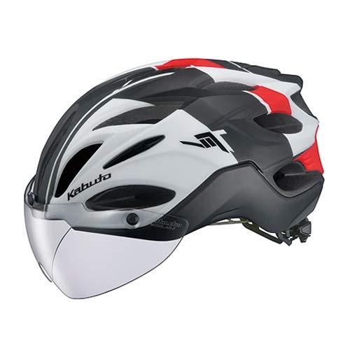 OGK KABUTO(オージーケーカブト) ヘルメット VITT (ヴィット) カラー:G-1マットホワイトレッド サイズ:L