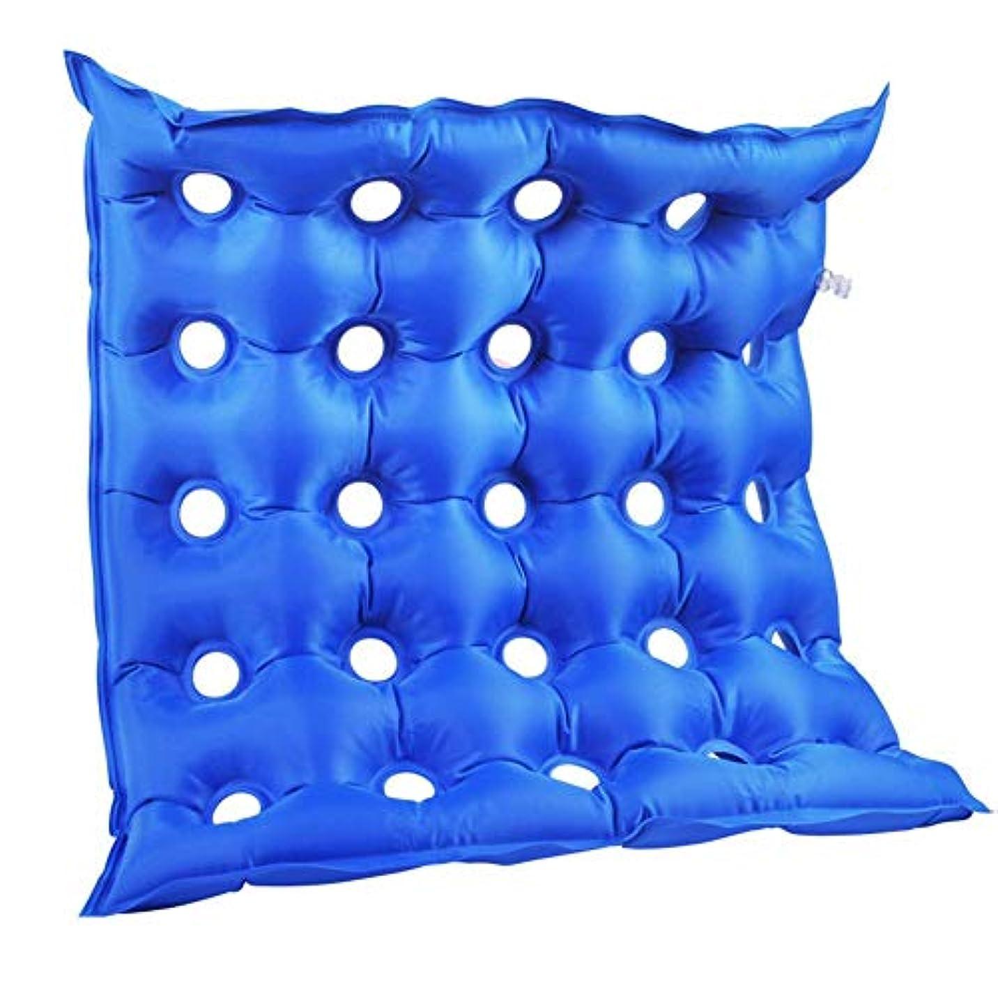 豊富刈る矢印エアークッション インフレータブルクッション 車椅子クッション PVC製 快適 通気 軽量 コンパクト 多機能 介護用 床ずれ防止 46x46cm hjuns-Wu