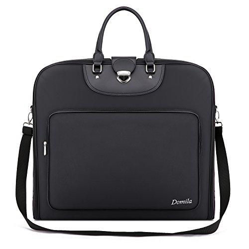 Domila ガーメントバッグ スーツ収納 大容量 持ち運び スーツバッグ 小物収納可 スーツカバー ビジネス 出張 旅行 冠婚葬祭