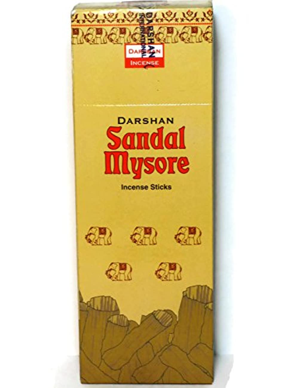 自動化予防接種安息サンダルMysore Incense、120のスティックパックの6。Darshan、Hand Made In。インド