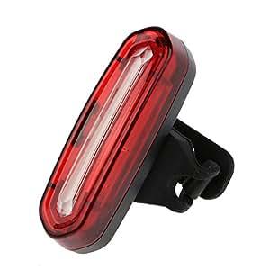 1セット USB充電式 COB LED 自転車フロント/リア テールライト ランプ 4 モード サイクリングランプ レッド