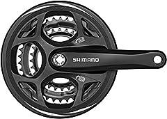 シマノ(SHIMANO) ALTUS クランクセット ガード付き 48-38-28T FC-M311 ブラック 170mm EFCM311C888CL