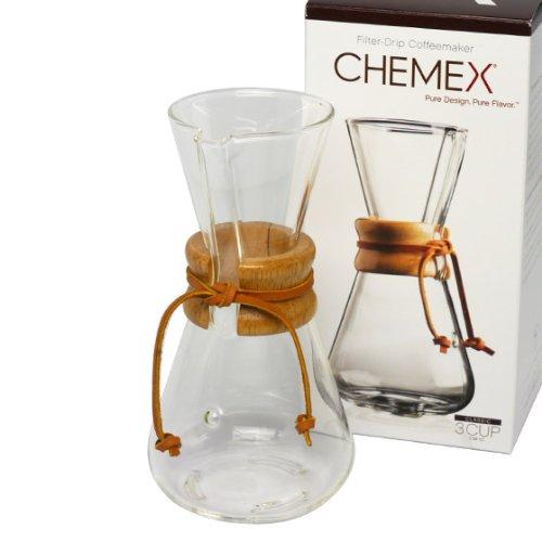 [ケメックス] CHEMEX コーヒーメーカー マシンメイド 3カップ用 ドリップ式 [並行輸入品]