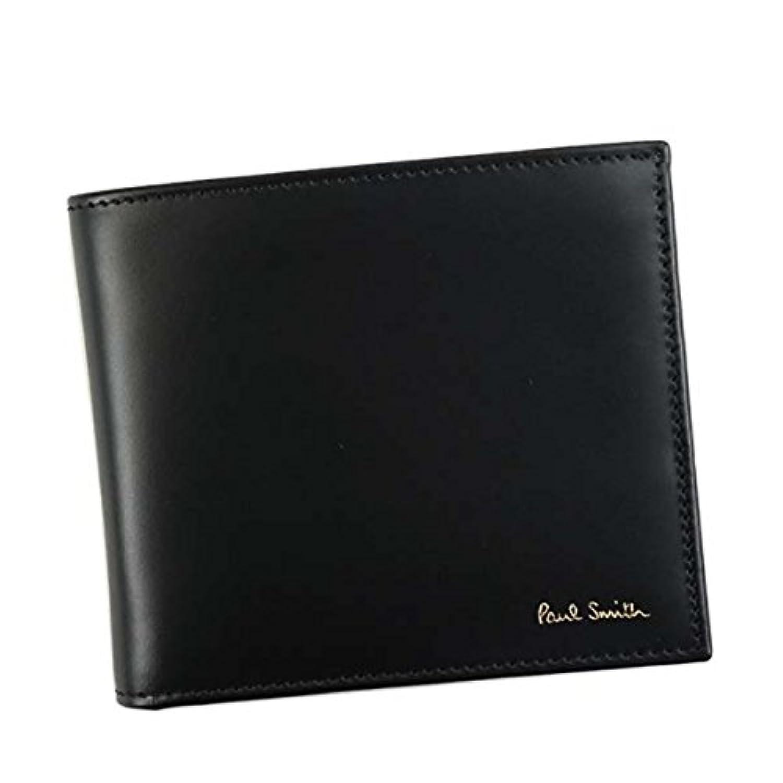 ポールスミス 財布 二つ折り財布 PAUL SMITH AUPC4833 BILLFOLD WALLET AND COIN 79 BK W761A 100%LEATHER 並行輸入品