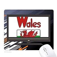 ウェールズの国旗の赤・緑・パターン ノンスリップラバーマウスパッドはコンピュータゲームのオフィス