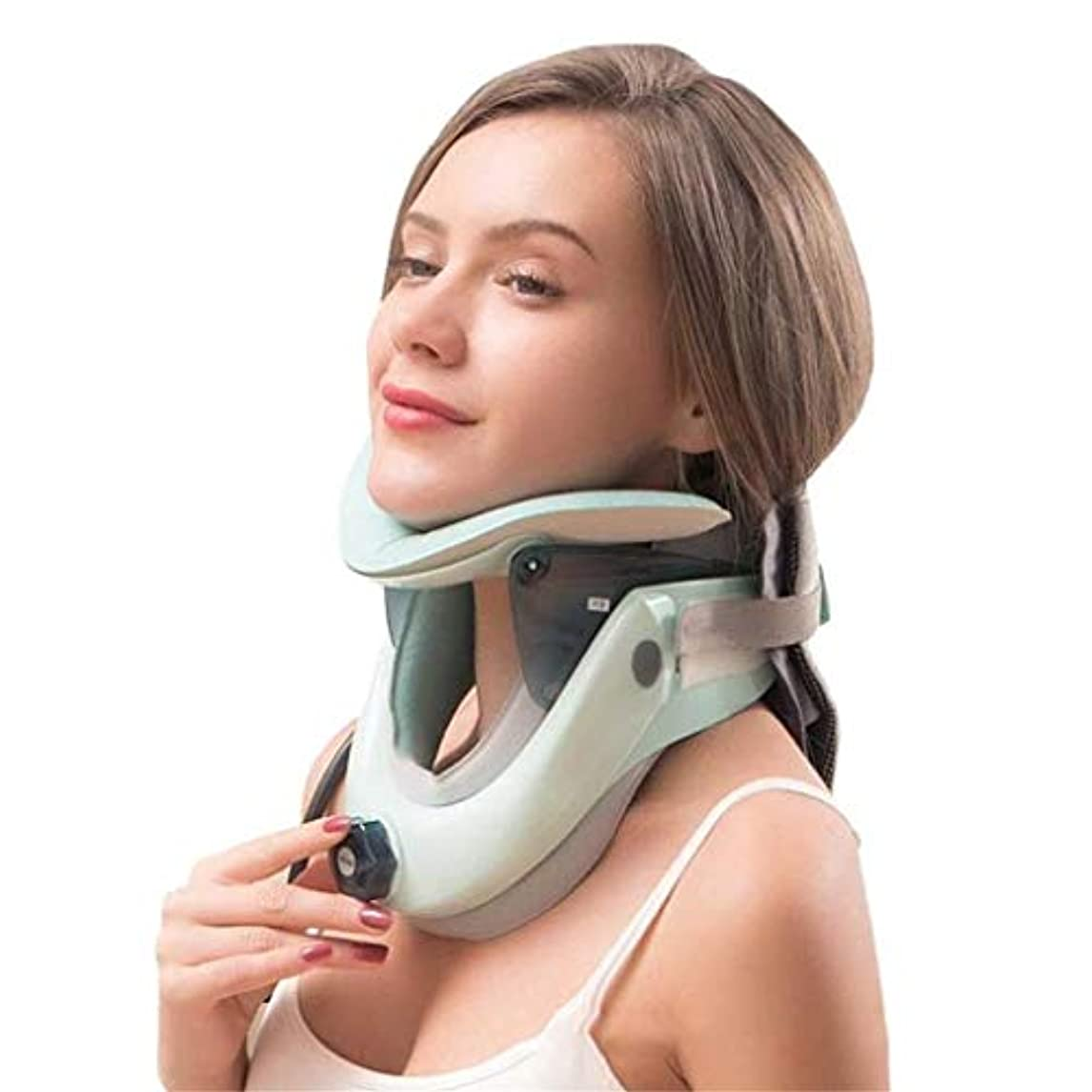 予防接種する最終夜間頸部牽引ツール、医療用頸部牽引装置、家庭用インフレータブルネックサポート頸部サポート、ストレッチヘッド補正サポート、首と肩のマッサージャーのサポート痛みの軽減