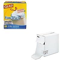 kitcox70427sel69566–Valueキット–Sealedエアバブルラップsel69566とGlad ForceFlex tall-kitchen巾着バッグ(cox70427)