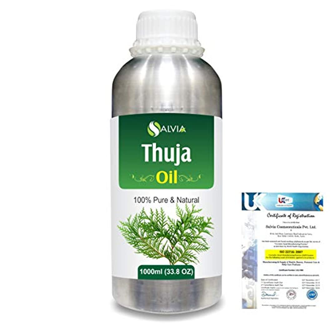 メータージャンル大砲Thuja (Thuja Orientali) 100% Pure Natural Essential Oil 1000ml/33.8fl.oz.