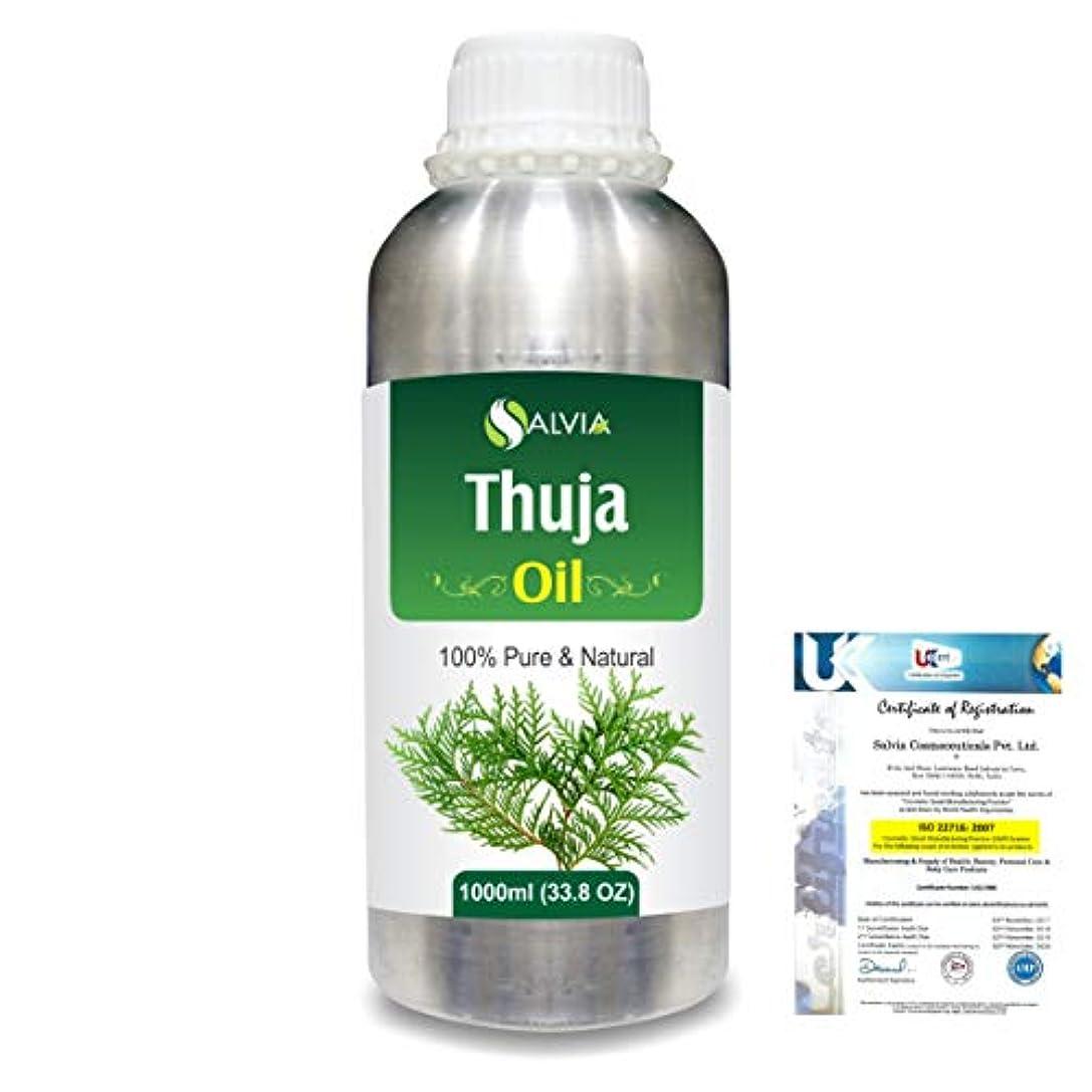 哲学博士日付付き中性Thuja (Thuja Orientali) 100% Pure Natural Essential Oil 1000ml/33.8fl.oz.