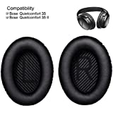 Cosyplus Ear Cushions for Bose Quiet Comfort 35 (QC35) and QuietComfort 35 II (QC35 II) Headphones (QC35/QC35 II Ear Pads, Black)