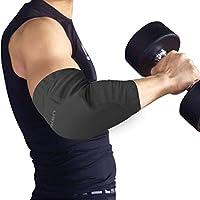 BenKen 2個セット 肘プロテクター 肘サポーター 肘パッドエルボーバンド 肘あて 肘保護 肘固定 スノーボード 滑り止め 怪我防止 伸縮性 通気性 薄型テニス ゴルフバスケ 男女共通 左右兼用 1ペア ブラック