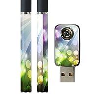 スマコレ プルームテック ploom tech バッテリー スティック 専用スキンシール USB充電器 カバー ケース 保護 フィルム タバコ クール カラフル ネオン 002062