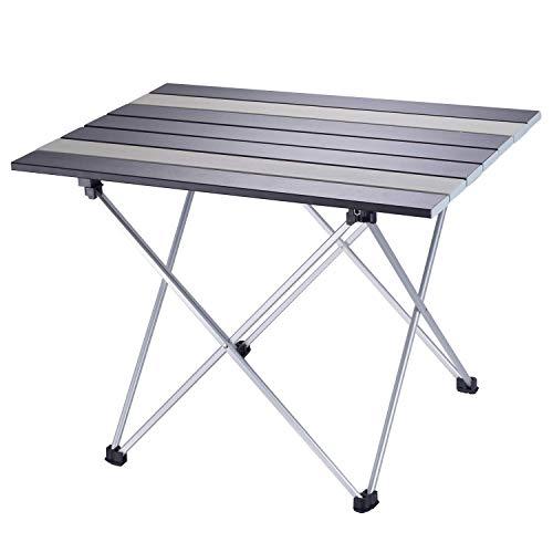 Lvtocvo アウトドアテーブル 折り畳みテーブル アルミニウム合金表面 超軽量 防水 耐熱...