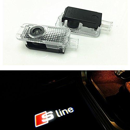 D-Eライト LEDチップ アウディ Audi ロゴ カーテシランプ カーテシライト ゴーストシャドーライトAudi LED2個セットカーテシランプ