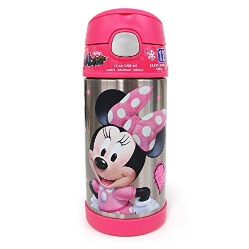 ディズニー Disney ミニーマウス 水筒 ストロー付 T...