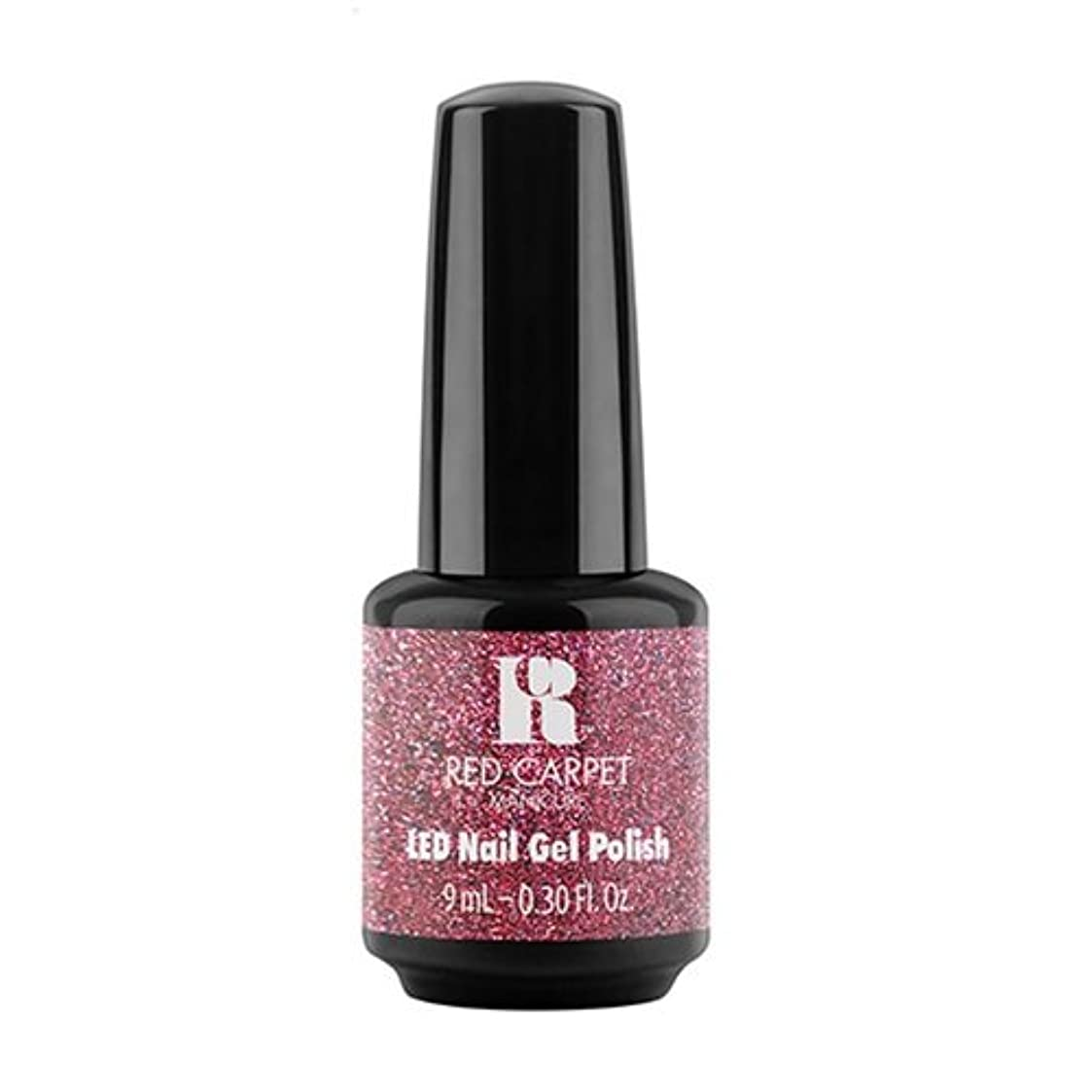 憤る復活する服を着るRed Carpet Manicure - LED Nail Gel Polish - Bombshell Babe - 0.3oz / 9ml