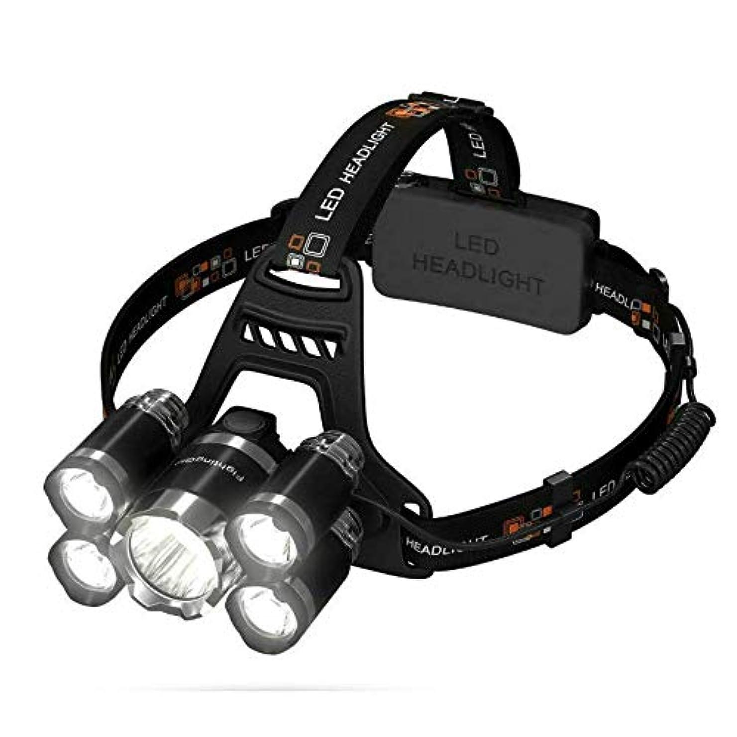 スラム科学潤滑するLED ヘッドライト usb 充電式 ヘッドランプ 高輝度CREE T6 角度調節可能 懐中電灯 防水 4モード点灯 照明 充電式電池付属 アウトドア 作業 夜釣り ランキング キャンプ 登山 防災
