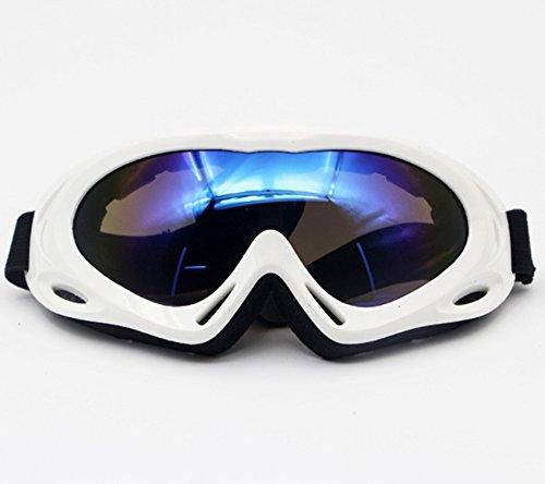 ゴーグル スキー鏡 メガネ対応 アジア人の顔向き スノーボード 曇り止め 軽量 男女兼用 スキーゴーグル 球面レンズ 防風・防雪・防塵 OPP袋付きスキー アンチフォグゴーグル (白)