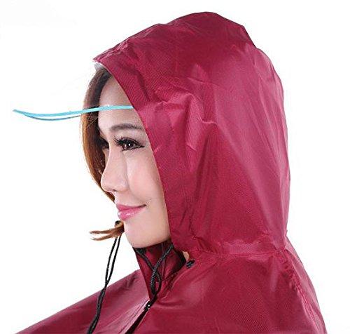 自転車 用 レイン コート ポンチョ 前カゴ 濡れない 透明 バイザー 男女兼用 フリーサイズ 防風 防寒 (04.つば型バイザー/パープル)