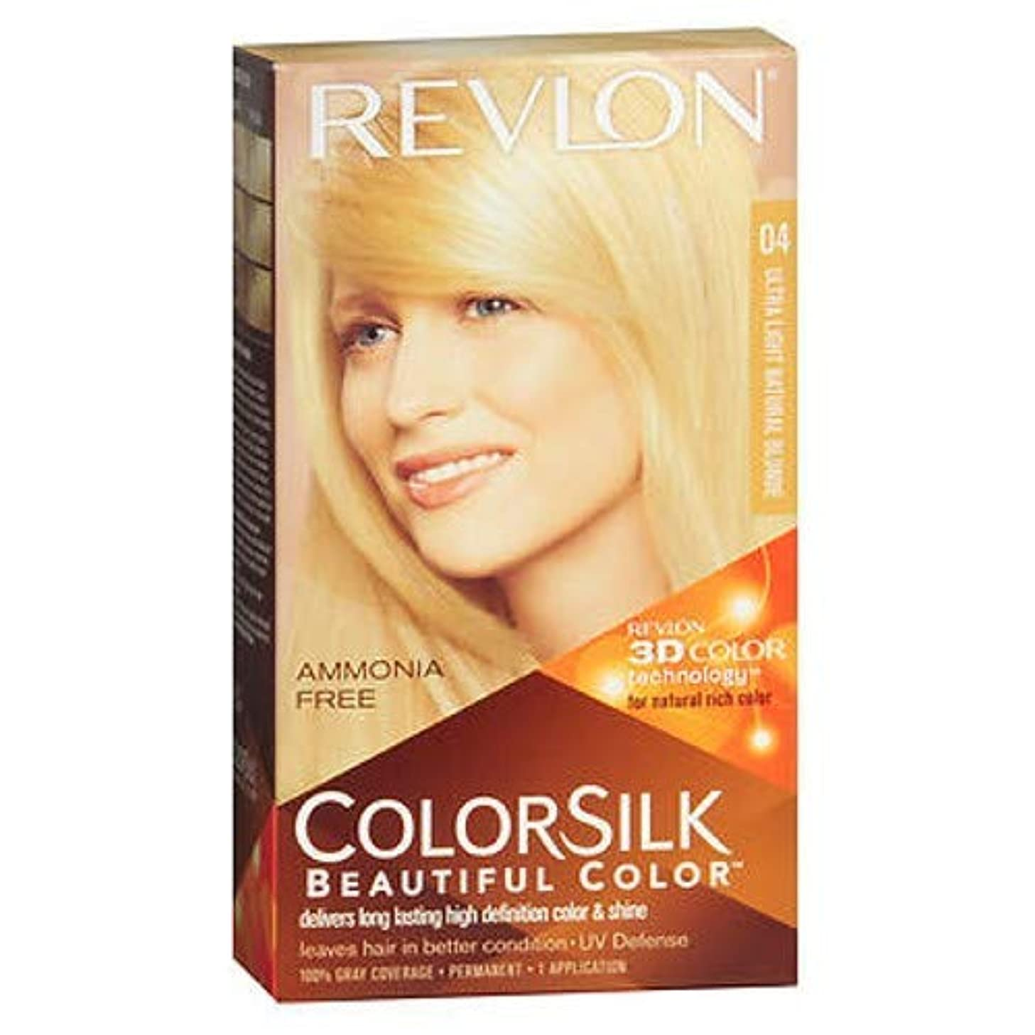 はげ消える序文Revlon Colorsilk美しい色のパーマネントカラー、ウルトラライトナチュラルブロンド04、3パック 3パック ウルトラライトナチュラルブロンド