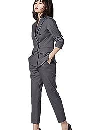[もうほうきょう] スーツ レディース パンツスーツ OL オフィス 2点セット就活 ビジネス 通勤 事務服 女性用 無地 コート+ズボン