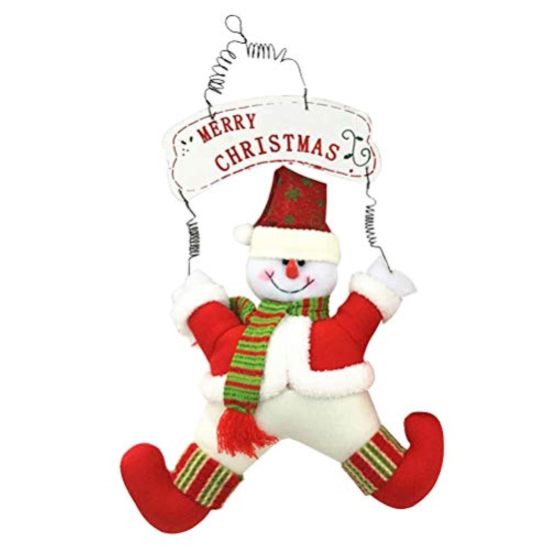 BESTOYARD クリスマス飾り ペンダント クリスマスツリー飾り 雪だるま 吊るす ドア 飾り ホームインテリア