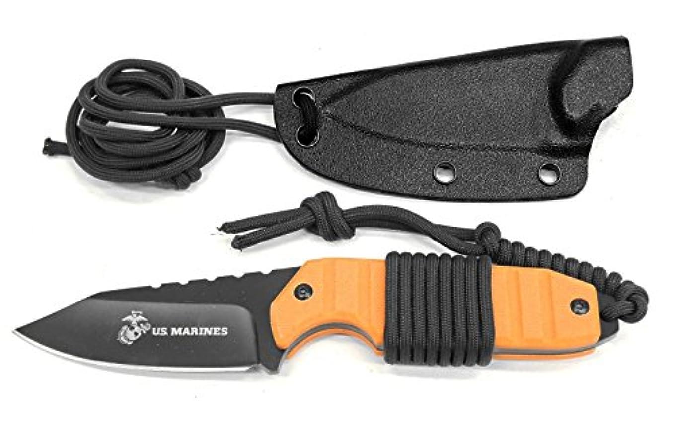 食用デュアルの中でマスターカット MASTERCUTLERY M-2002OR ステルス オレンジ 全長17.5cm、ハードシース付