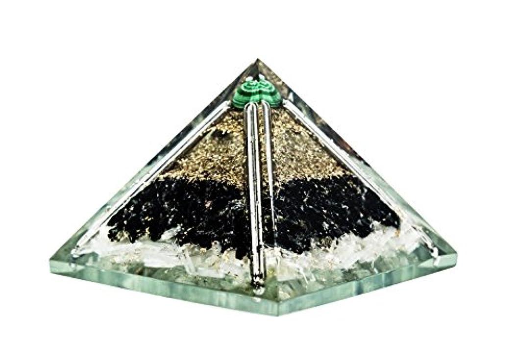 おとうさん晩餐バラエティcrocon Exclusive砂漠のブラックトルマリンOrgone Pyramid with Green MalachiteボールエネルギージェネレータレイキHealingオーラクレンジング& EMFの保護サイズ: 2.5...