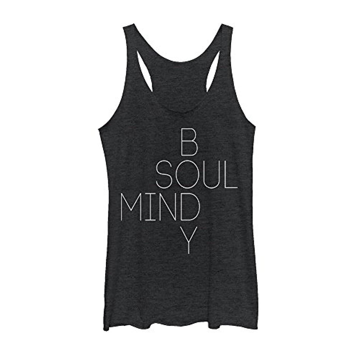 抵抗力がある略奪理容室Fifth Sun Peaceful Warrior Mind Body Soulレディースグラフィックレーサーバックタンク