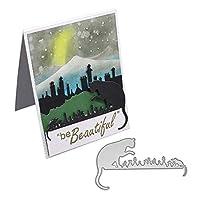 ruixuered-猫マウス金属切削ダイDIYエンボススクラップブックペーパークラフトカードステンシル - シルバー