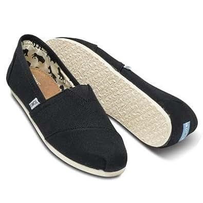[トムス シューズ] Toms Shoes メンズ クラシック キャンパス スリッポン Men's Classics [並行輸入品] (7, BLACK)