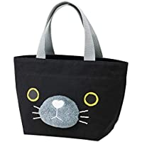 """Skater Jump Out Ohana Canvas Lunch Tote Bag""""Neko Cat"""" YEB1"""