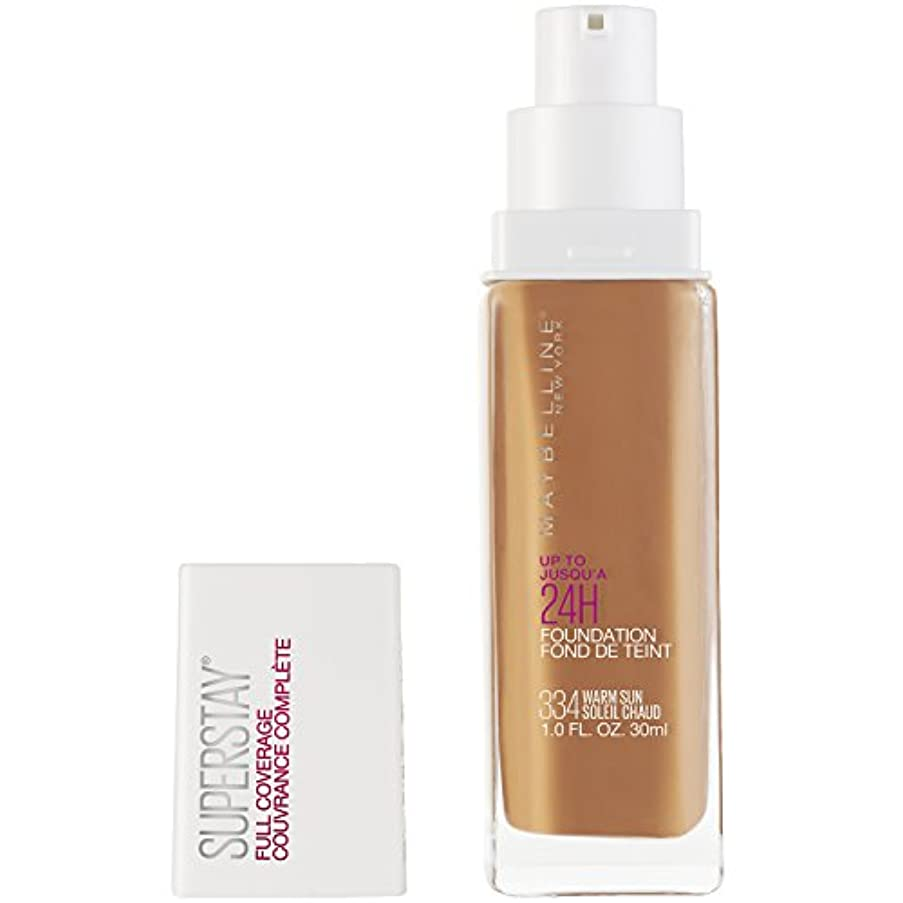 規制平らにする密接にMAYBELLINE Superstay Full Coverage Foundation - Warm Sun 334 (並行輸入品)