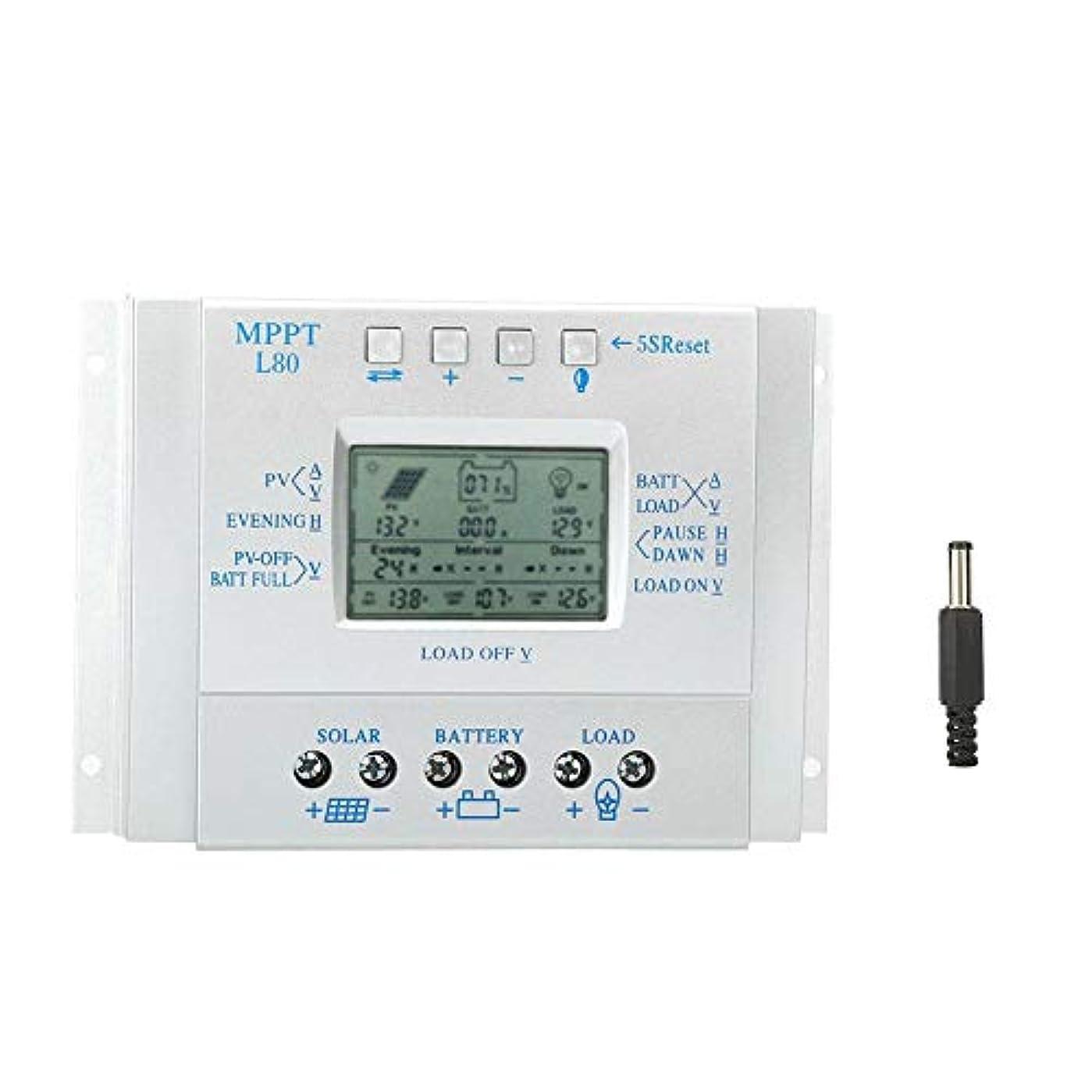 制裁発生ライセンスソーラーMPPT充電コントローラー、80A LCDディスプレイPWM太陽光発電ソーラー充電コントローラーRegulador 12V/24V