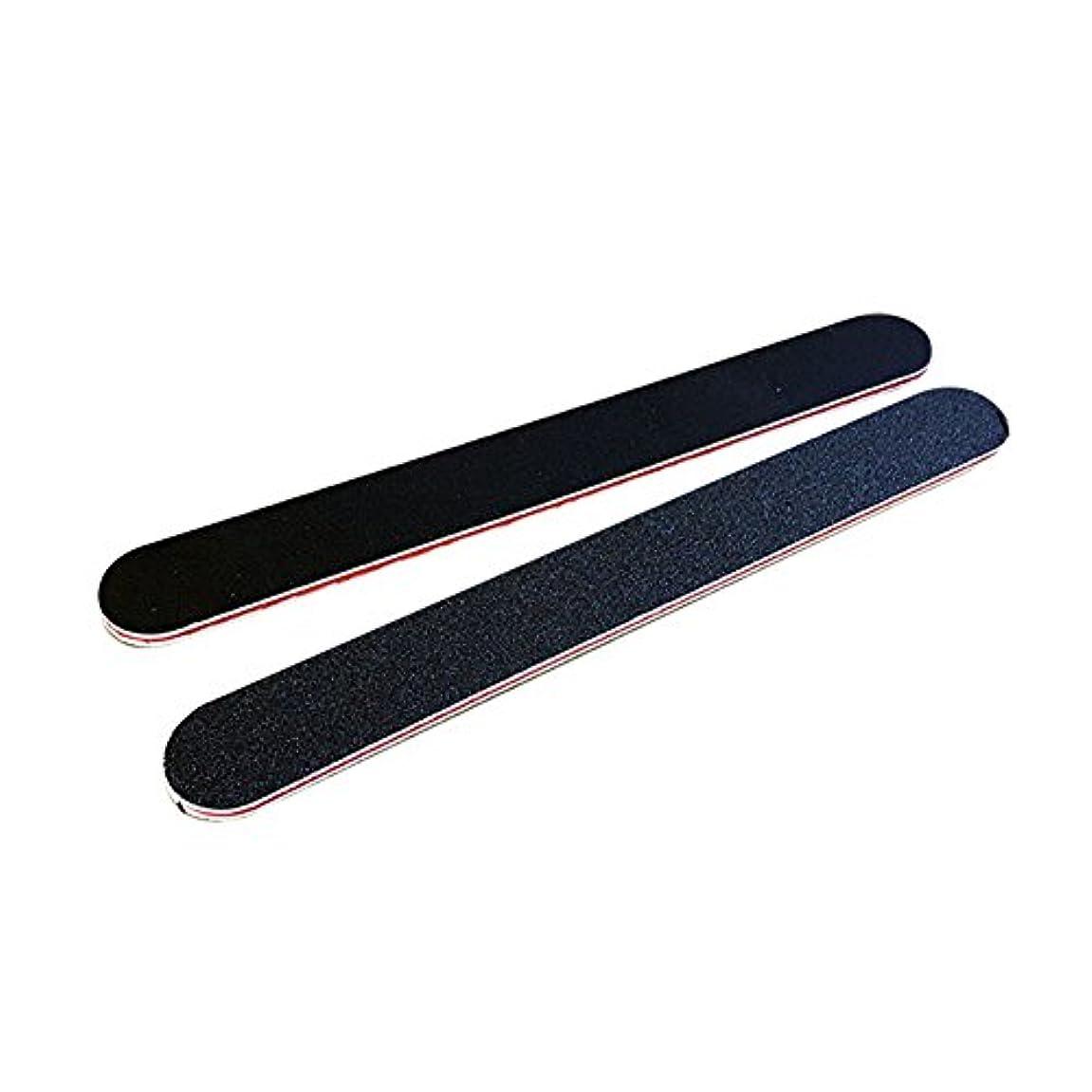 兵隊バンドいつもPoonikuu爪やすり爪磨き ネイルファイル ケアツール ネイルツール 両面タイプネイルやすり 小型便利 2本セット ブラック