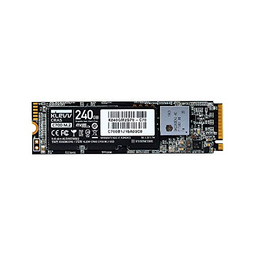 KLEVV SSD 240GB CRAS C700 M.2 Type2280 PCIe3.0×4 NVMe1.3 SK Hynix NAND Flash採用 5年保証 K240GM2SP0-C70