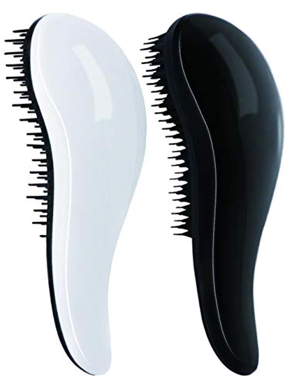 無限大全員スケジュールヘアブラシ ヘアケアブラシ 絡まない 速乾 頭皮マッサージ シャンプーブラシ 血行促進 静電気防止 握りやすい 人間工学 速乾ブラシ からみ解除ブラシ 2点セット