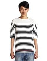 3/4 Sleeve Basque Shirt 3217-113-2842: White