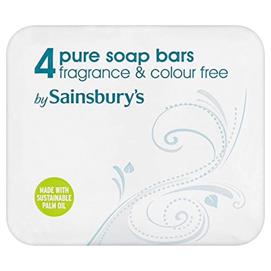 Sainsbury's Pure Soap 4x125g (Pack of 6) - (Sainsbury's) 純粋な石鹸4X125G (x6) [並行輸入品]