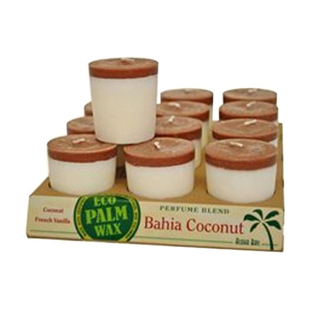 ヒール稼ぐ木材Aloha Bay 1135334 Aloha Bay Votive Candle - Bahia Coconut - Case of 12 - 2 oz